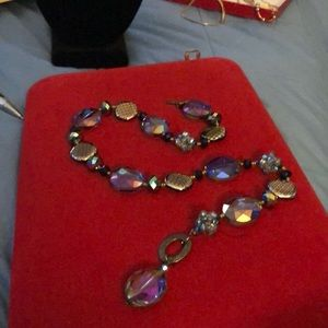 Jewelry - 🆕One Of A Kind Glass Crystal Necklace